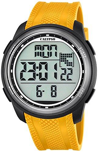 Calypso Herrenarmbanduhr Quarzuhr Kunststoffuhr mit Polyurethanband Alarm Chronograph digital alle Modelle K5704 Variante 01