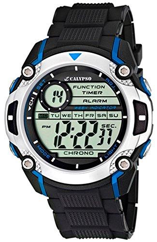 Calypso Herrenarmbanduhr Quarzuhr Kunststoffuhr mit Polyurethanband Alarm Chronograph digital alle Modelle K5577 Uhren Variante N 2
