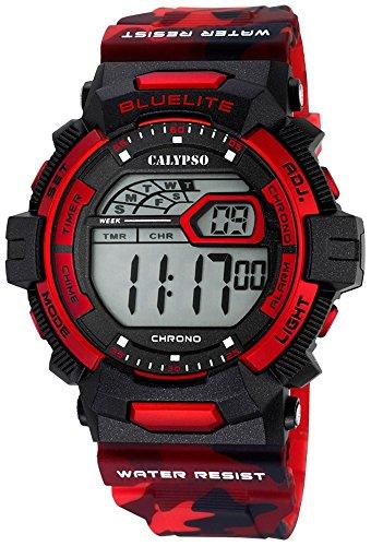 Calypso Herrenarmbanduhr Quarzuhr Digital Kunststoffuhr mit Polyurethanband Alarm Chronograph alle Modelle K5693 Variante 06