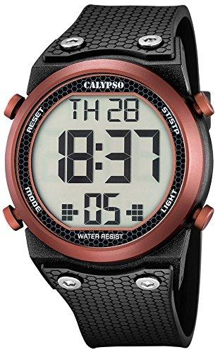 Calypso Herrenarmbanduhr Quarzuhr Kunststoffuhr mit Polyurethanband Alarm Chronograph digital alle Modelle K5705 Variante 03