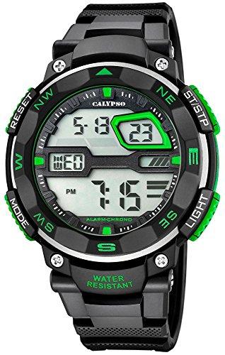 Calypso Herrenarmbanduhr Quarzuhr Kunststoffuhr mit Polyurethanband Alarm Chronograph digital alle Modelle K5672 Variante 03