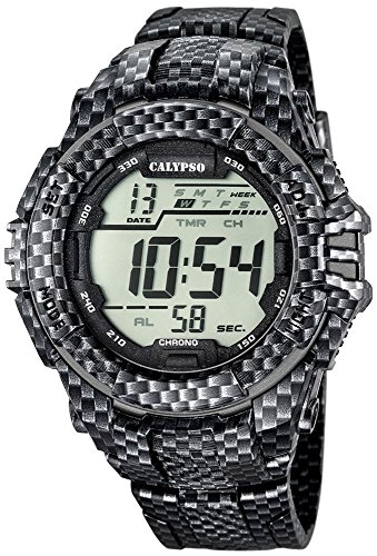 Calypso Herrenarmbanduhr Quarzuhr Kunststoffuhr mit Polyurethanband Alarm Chronograph digital alle Modelle K5681 Variante 07