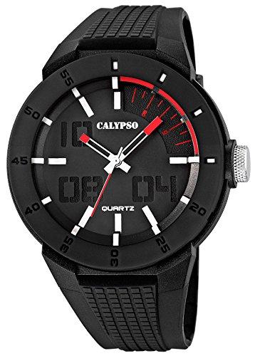 Calypso Herrenarmbanduhr Quarzuhr Kunststoffuhr mit Polyurethanband analog K5629 2