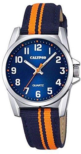Calypso Kinderarmbanduhr Quarzuhr analog Kunststoffuhr mit Materialmix Band alle Modelle K5707 Variante 04