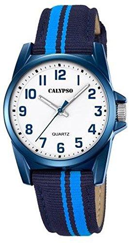 Calypso Kinderarmbanduhr Quarzuhr analog Kunststoffuhr mit Materialmix Band alle Modelle K5707 Variante 06