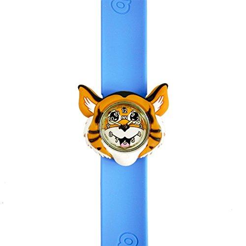 Tiger uhr 3D tiere Mehrfarbige Leicht abzulesen uhr Mode uhren Zeit lehrt Kinder Jungen Maedchen Spritzer bestaendig leicht dranklipsen armbanduhren Perfekt geburtstag geschenke Weihnachtsgeschenk