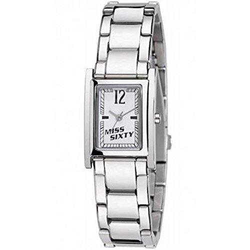 Armbanduhr Miss Sixty 2h weiss Armband mit Strass sqf002