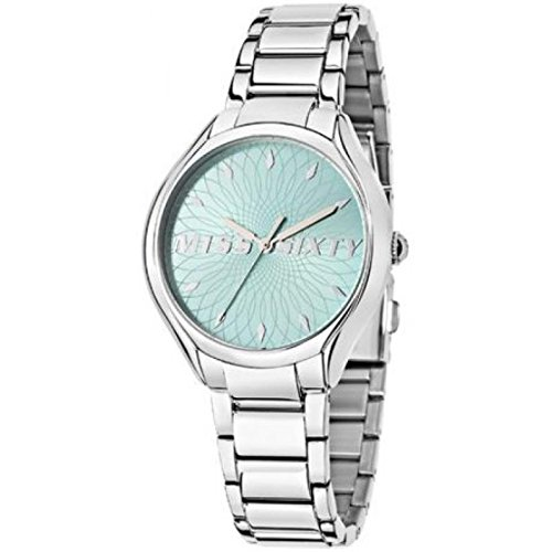Armbanduhr Miss Sixty uhr 3H Blaugruen Stahl Armband 753137505