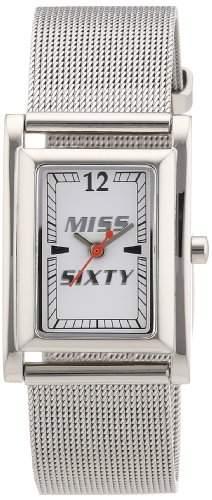Miss Sixty Damen-Armbanduhr MESH Analog Quarz Edelstahl R0753101501