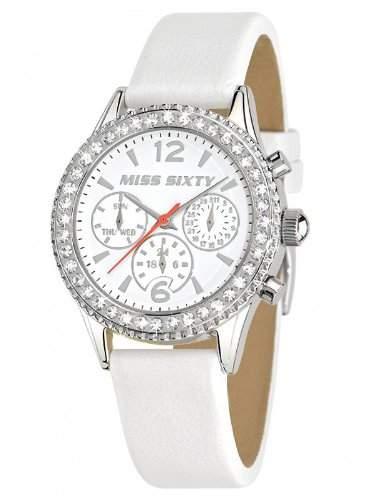 Miss Sixty-R0751103501Damen-Armbanduhr-Quarz Analog-Armband Kunstleder Weiss