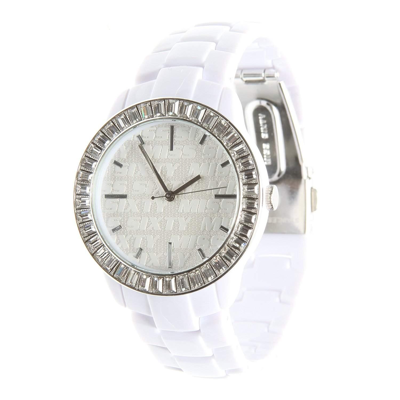 Miss Sixty Damen-Armbanduhr Analog Quarz Leder R0753118501
