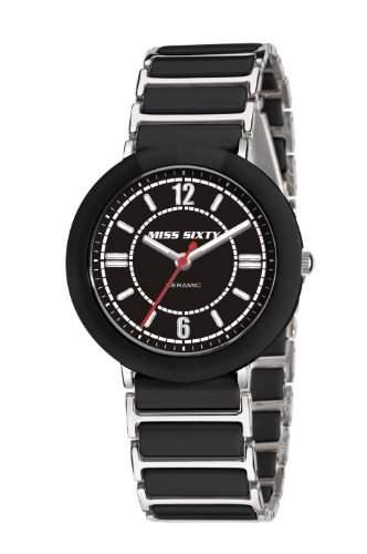 Miss Sixty Damen-Armbanduhr Glamour schwarz SIR001