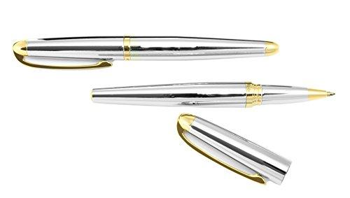 Ma dor Metall Schreibset 2 teilig mit Kugelschreiber und Tintenroller in Gold Silber CSR CC4