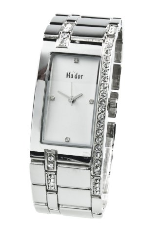 Mador Damen Armbanduhr Analog Quarz Edelstahl in Silber M RP15 silver
