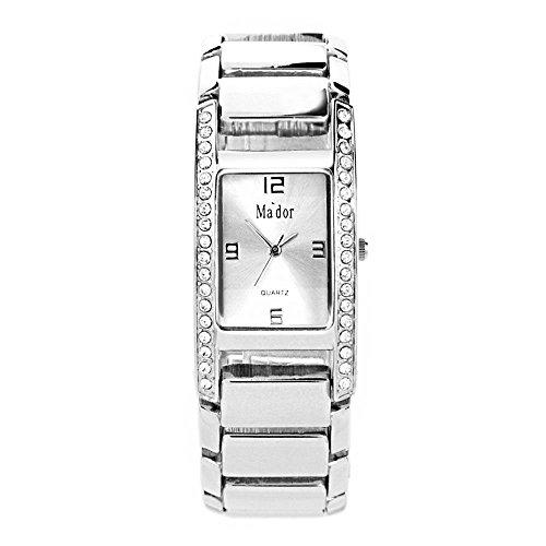 Mador Damen Armbanduhr Analog Quarz in Silber CB1867SD
