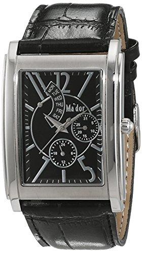 Mador Herren Armbanduhr Analog Quarz Leder G03923 S