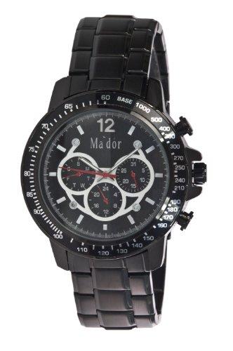 Mador Herren Armbanduhr Analog Quarz Schwarz MAM 559