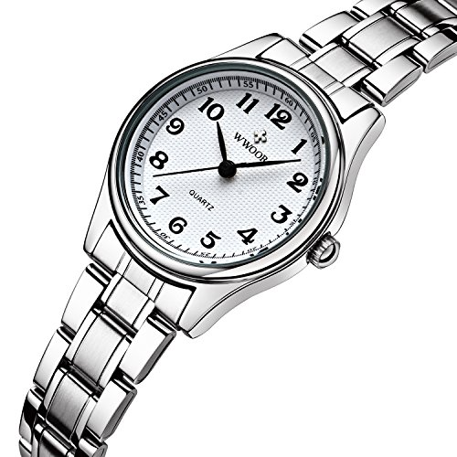 Sport Fashion Edelstahl Band Wasserdicht Uhren stossfest Digital Outdoor Armbanduhr Weiss