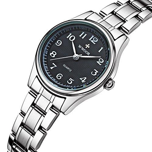 Sport Fashion Edelstahl Band Wasserdicht Uhren stossfest Digital Outdoor Armbanduhr Schwarz