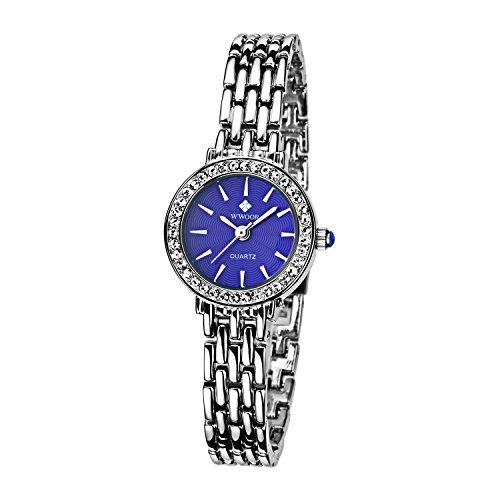 Damen Verschieden Sport Armbanduhr stossfest Edelstahl Link Maedchen Wasserdicht Uhren Digital Outdoor Armbanduhr Blau