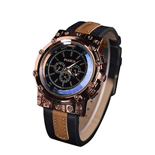 Loveso Armband uhr Luxus Faux Leder Sport Armband Analog Quarz Kleid zu sehen Marineblau