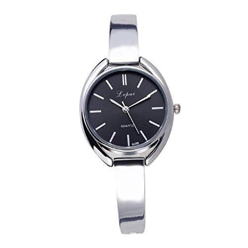 Loveso Armbanduhr elegant Frauen Mode elegante Quarz Legierung Band Uhren Armbanduhr Silber