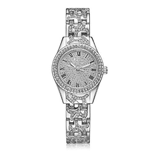Loveso Armbanduhr elegant Frauen Mode Elegante Dame analoge Quarz Geschenk Uhren Armbanduhren Silber