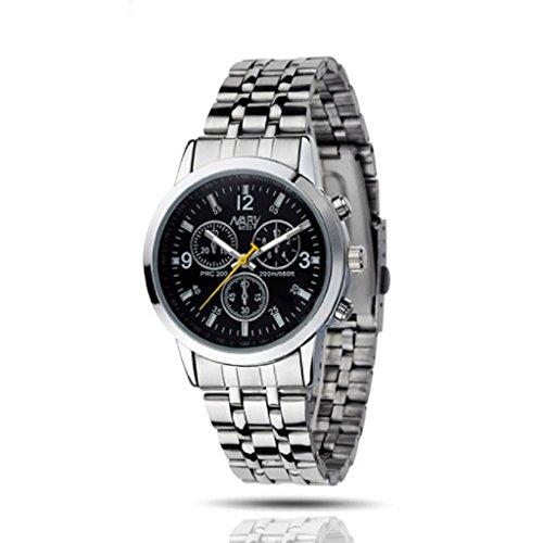 Loveso Armbanduhr elegant Fruaen Mode Elegante Wasserdicht Luxux Edelstahl Schmuck Schwarz