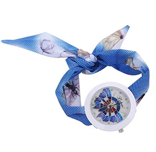 Loveso Damen uhr Armbanduhr Frauen arbeiten Freizeit Schal Quarz Uhr Armbanduhr Blau