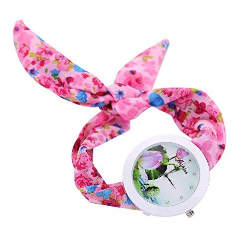 Loveso Armbanduhr Frauen arbeiten Freizeit Schal Quarz Uhr Armbanduhr Pink