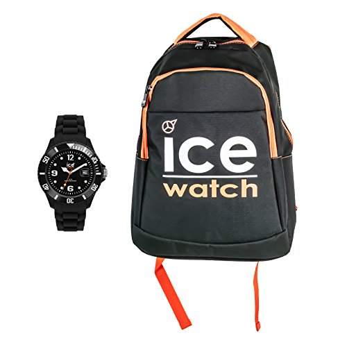 Ice Watch Sili Forever Unisex Armbanduhr inkl Rucksack Set SI BK U S 09 BG BP BKO M 14