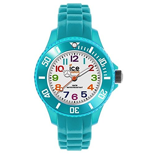 Ice Watch 012732 ICE mini turquoise extra small Uhr Maedchen Kinderuhr Kautschuk Kunststoff 10 bar Analog blau