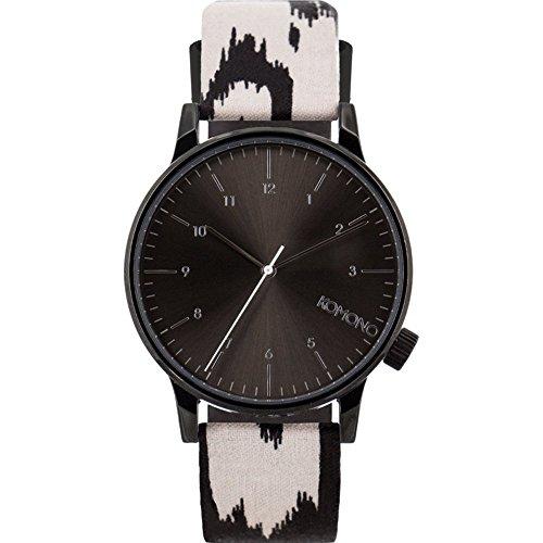 Komono kom w2157 Armbanduhr Quarzuhrwerk Winston Print Serie verwackelte Linien Edelstahl Multicolor Leder Armbanduhr
