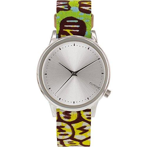 Komono kom w2850 Armbanduhr Quarzuhrwerk Estelle vlisco Damen Edelstahl Fall Multi Leder Silber Armbanduhr
