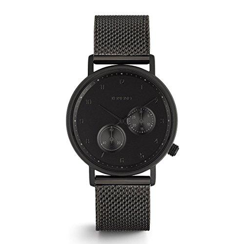 Komono Crafted Walther Black Mesh Armbanduhr KOM W4021