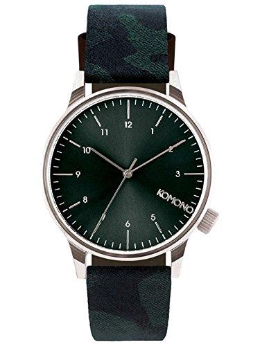 Komono Winston Print Series Uhr gruen CAMO GREEN
