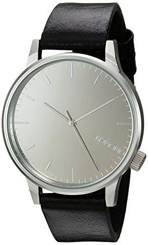 Komono Winston Mirror Silber Schwarz Armbanduhr KOM W2892