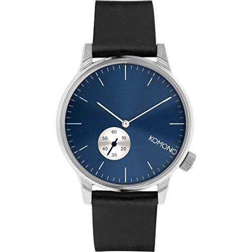Komono Winston Subs Silver Blue Silber Blau Armbanduhr KOM W3001