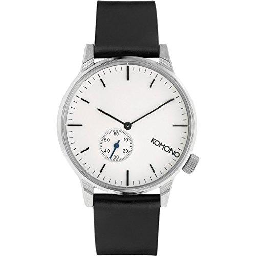 Komono Winston Subs Silver White Silber Weiss Armbanduhr KOM W3002