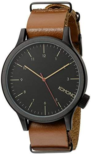 Komono Magnus Watch Black Cognac