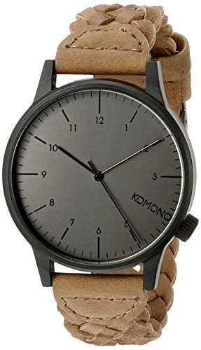 Komono Herren-Armbanduhr Analog Quarz Leder KOM-W2031