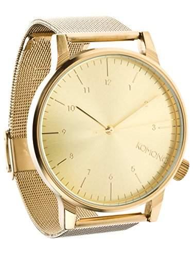 Komono Herren-Armbanduhr Analog Quarz Gold KOM-W2351