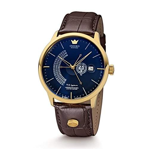 Kronsegler Herren Automatikuhr Oxford Masters limit Laurence of Arabia Edition gold-blau