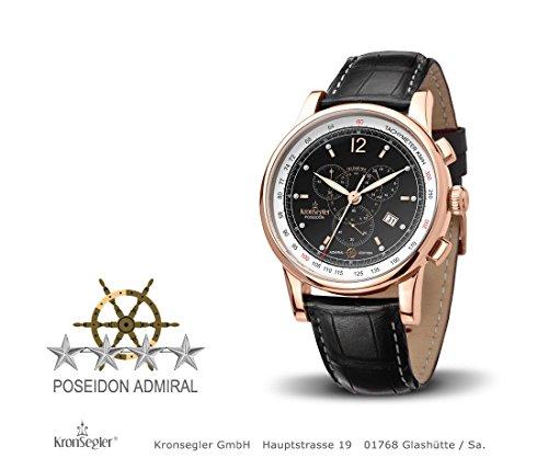 Kronsegler Admiral Diamant Chronograph rose schwarz