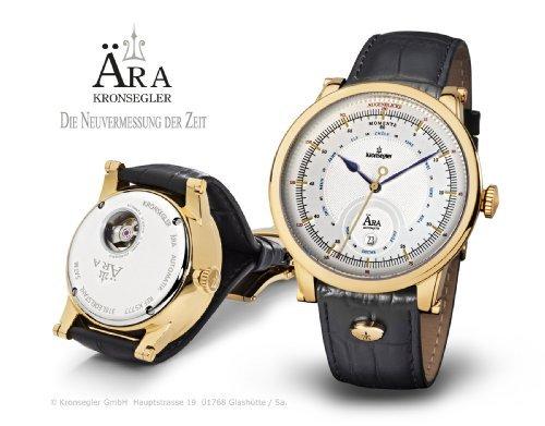 Kronsegler AERA Aera Automatikuhr echtvergoldet silbern