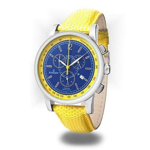 Kronsegler Poseidon Chronograph stahl blau gelb