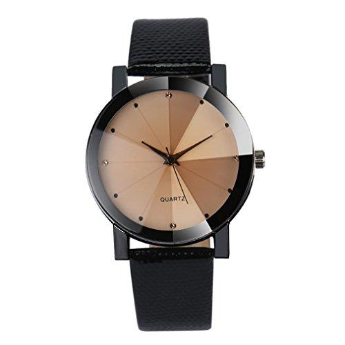 Armbanduhr Kingwo Luxus Quarz Sport Militaer Edelstahl Zifferblatt Lederband Armbanduhr