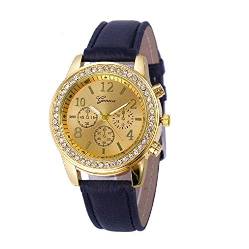 Kingwo Faux Chronograph Quartz Classic Damen Damen Quarzuhren Schwarz