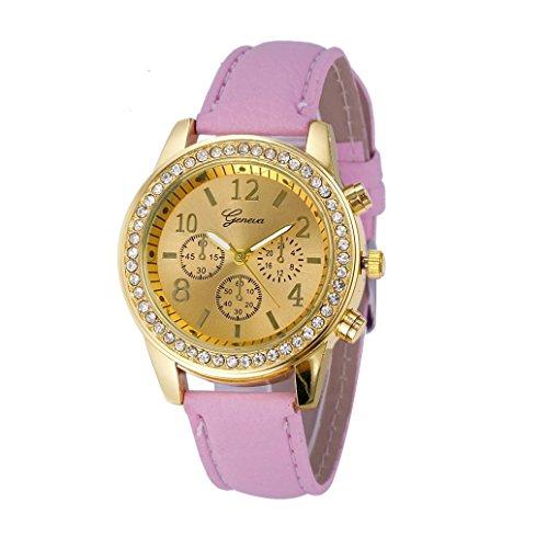 Damenuhren Kingwo Faux Chronograph Quartz Classic Damen Damen Quarzuhren Pink