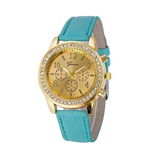 Damenuhren Kingwo Faux Chronograph Quartz Classic Damen Damen Quarzuhren Blau